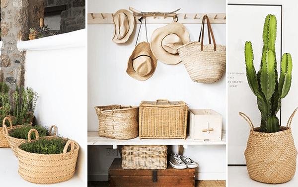 Osez les paniers en osier escale design escale design - Chevet avec panier osier ...