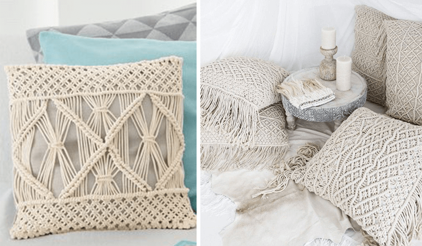 macrame coussin