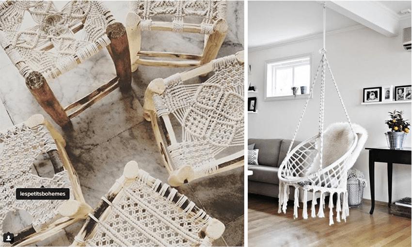macrame chaise